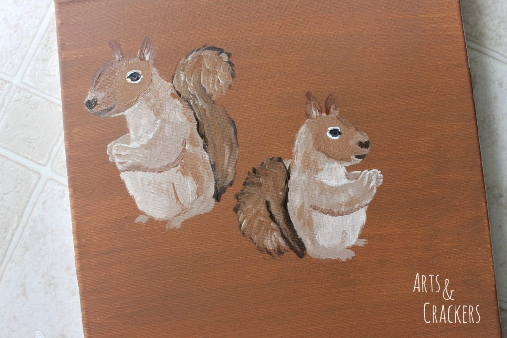 Handprint Squirrel Painting Step 12