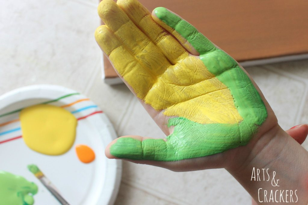Handprint Squirrel Painting Step 13