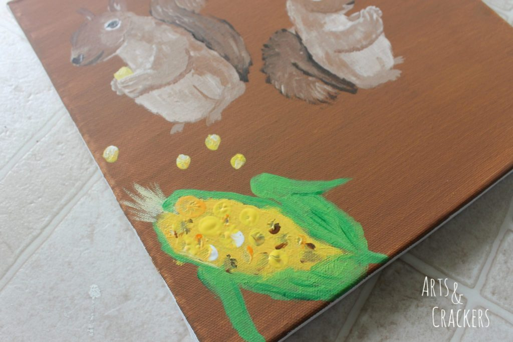Handprint Squirrel Painting Step 15