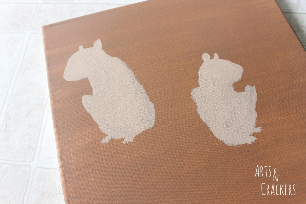 Handprint Squirrel Painting Step 6