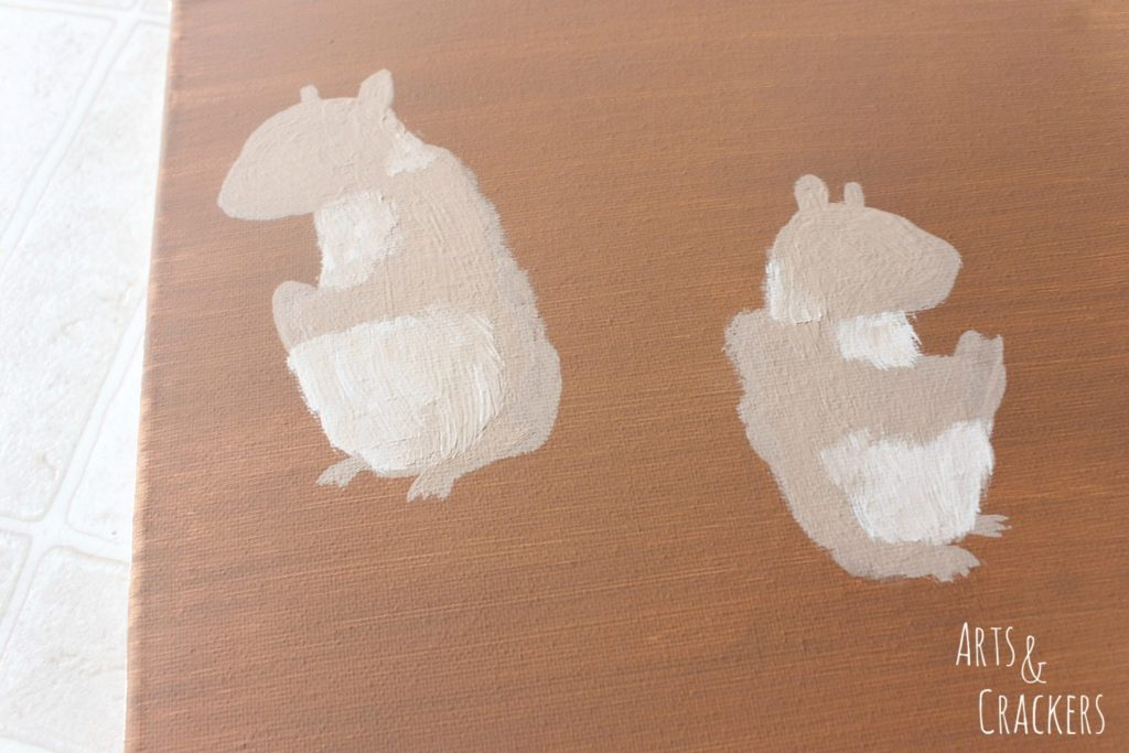 Handprint Squirrel Painting Step 7