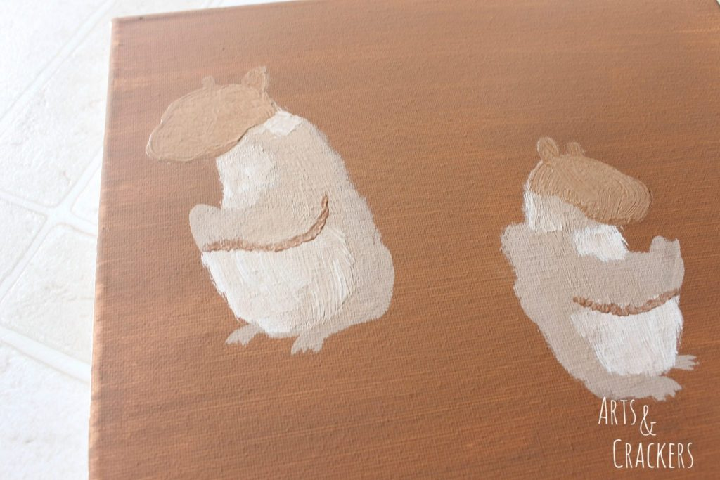 Handprint Squirrel Painting Step 8