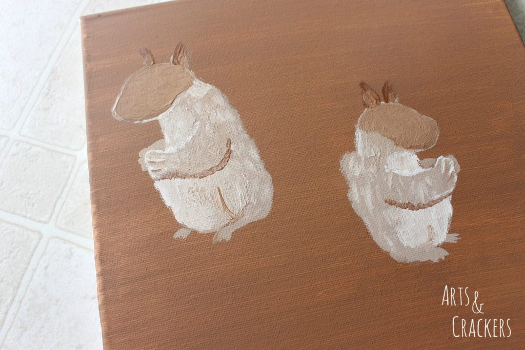 Handprint Squirrel Painting Step 9
