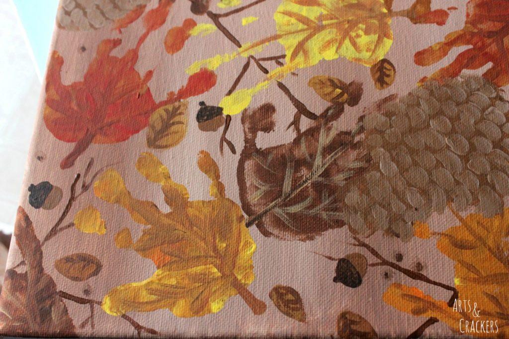 Handprint and Fingerprint Fall Collage Step 10