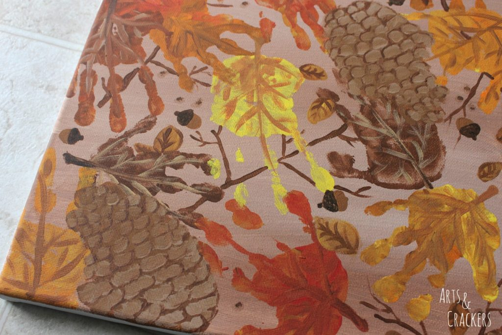 Handprint and Fingerprint Fall Collage Step 11