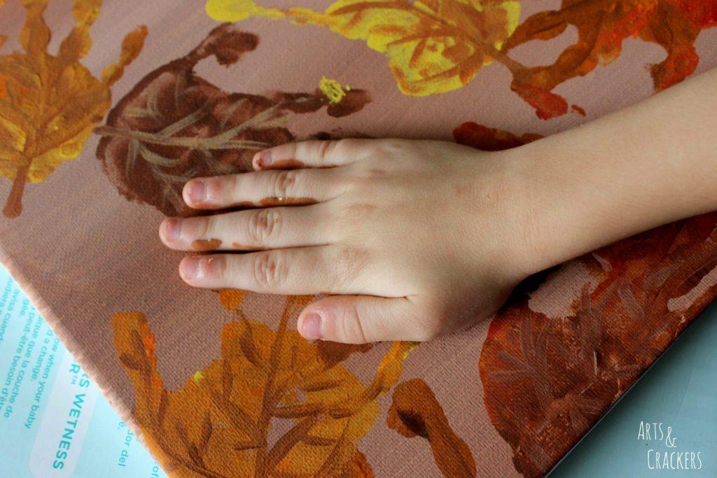 Handprint and Fingerprint Fall Collage Step 6
