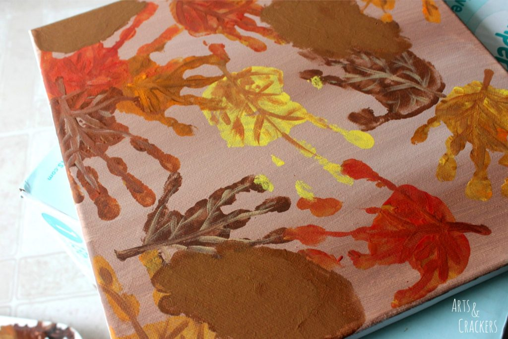 Handprint and Fingerprint Fall Collage Step 7