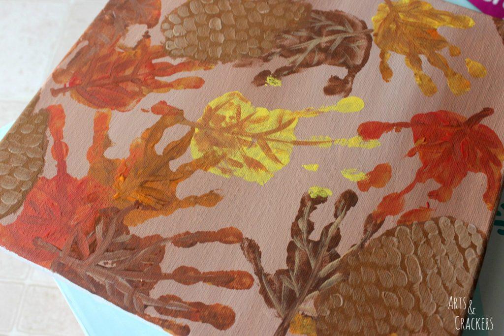Handprint and Fingerprint Fall Collage Step 8