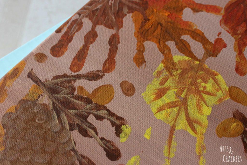 Handprint and Fingerprint Fall Collage Step 9