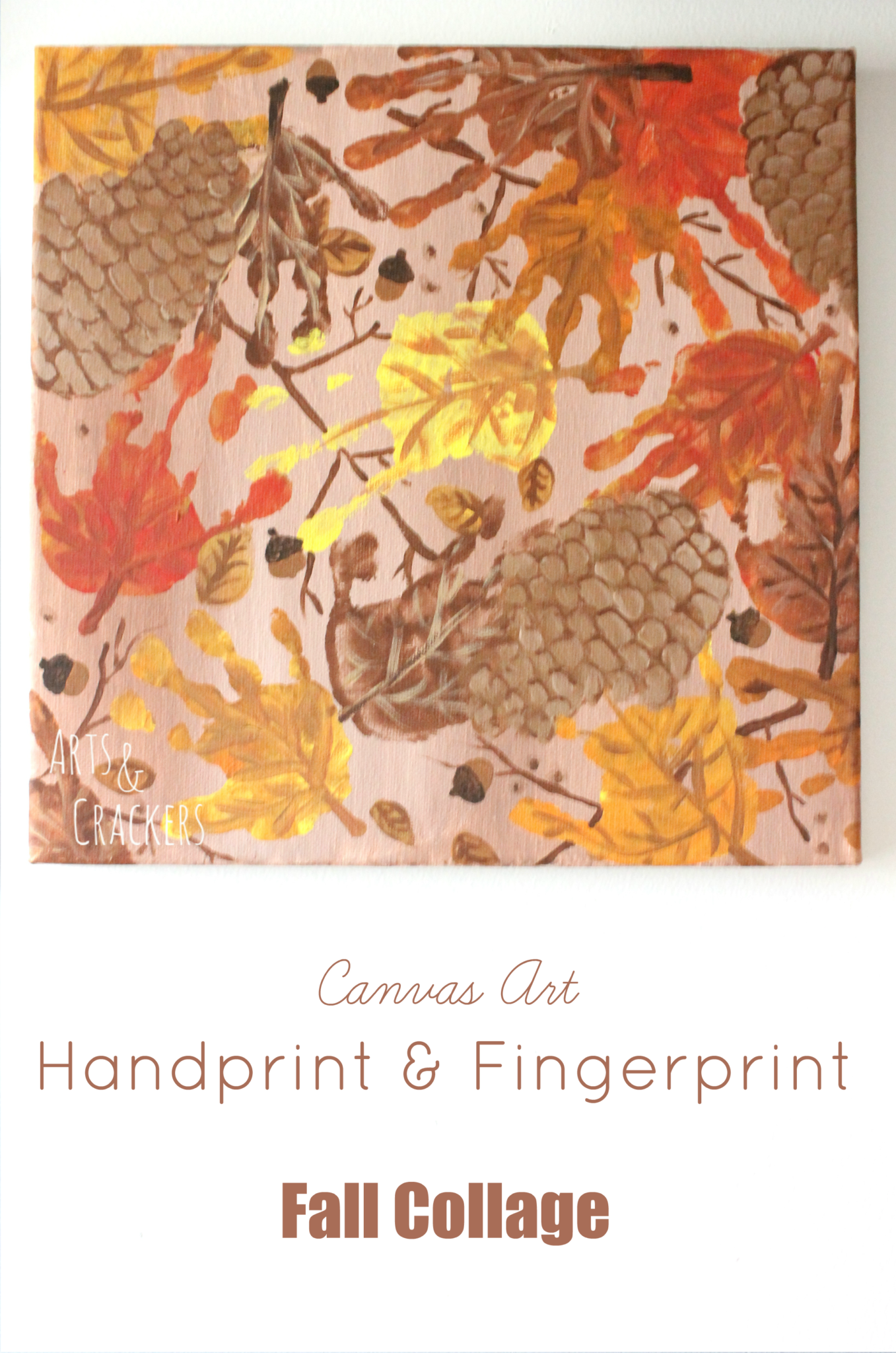Handprint and Fingerprint Fall Collage