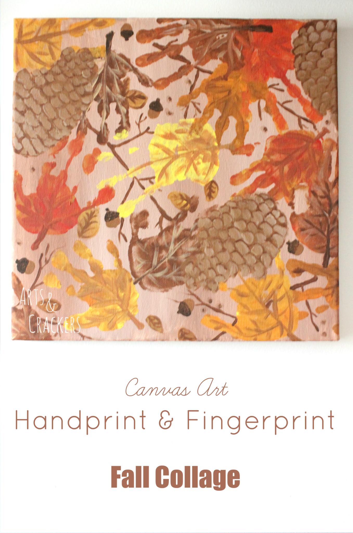 Handprint and Fingerprint Fall Collage