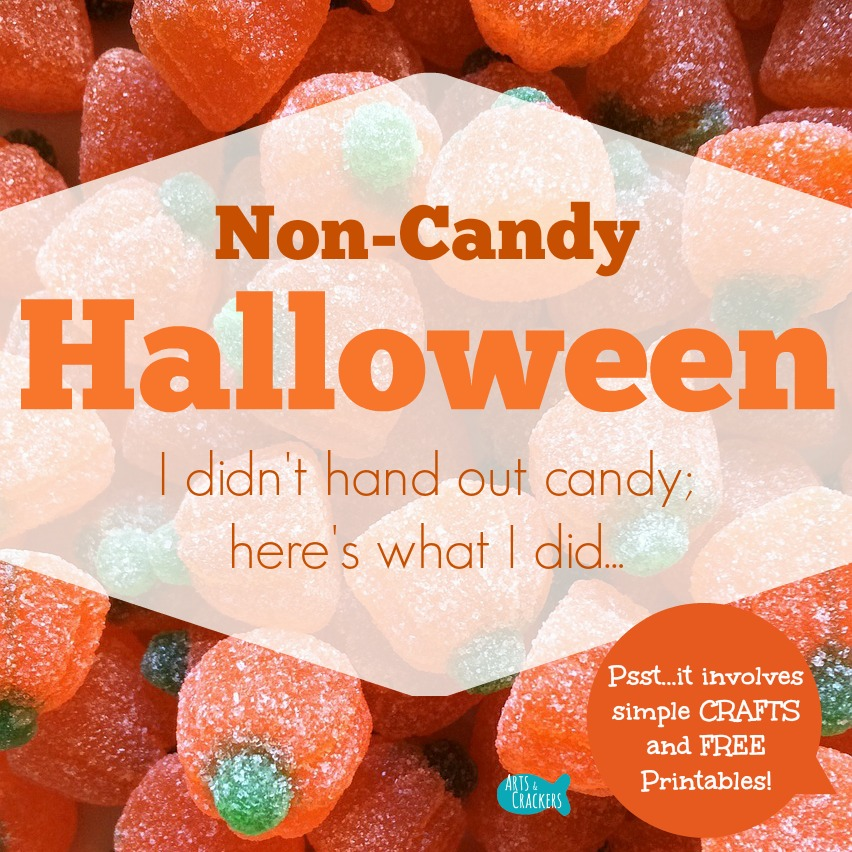 Non Candy Halloween Printables Square