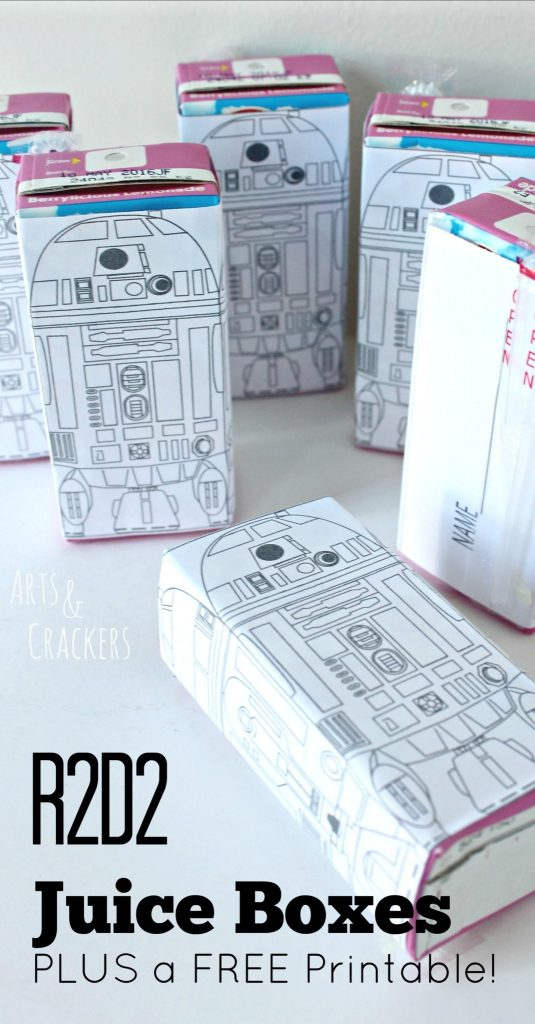 graphic about R2d2 Printable referred to as R2D2 Juice Containers and Absolutely free Printable