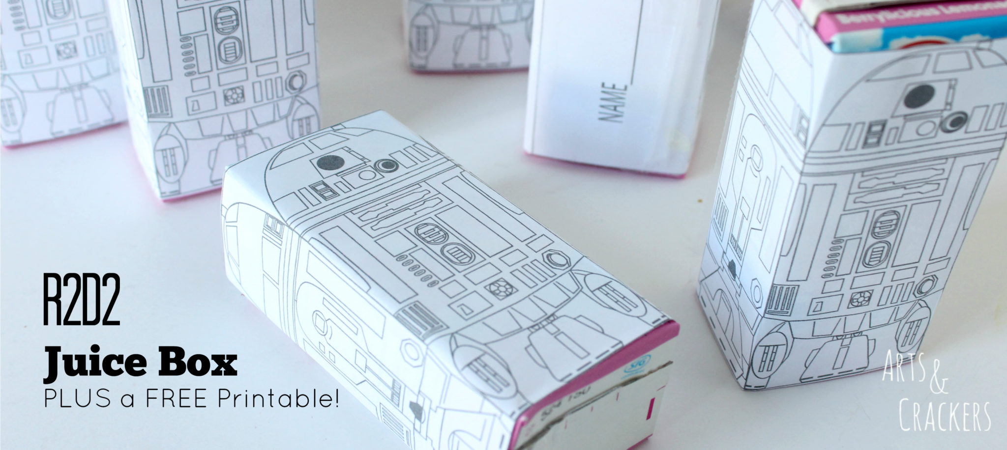 R2D2 Juice Boxes and FREE Printable