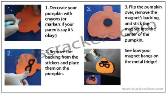 Silly Pumpkin Magnet Craft