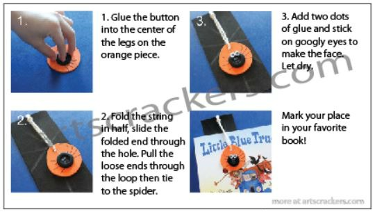 Spider Web Bookmark Craft