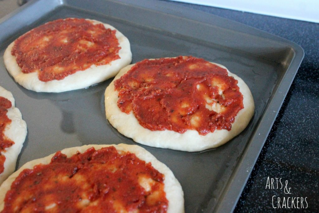 Star Wars Death Star Personal Pizzas Step 3
