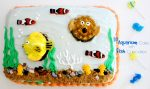 DIY Aquarium Cake and Fish Cupcakes