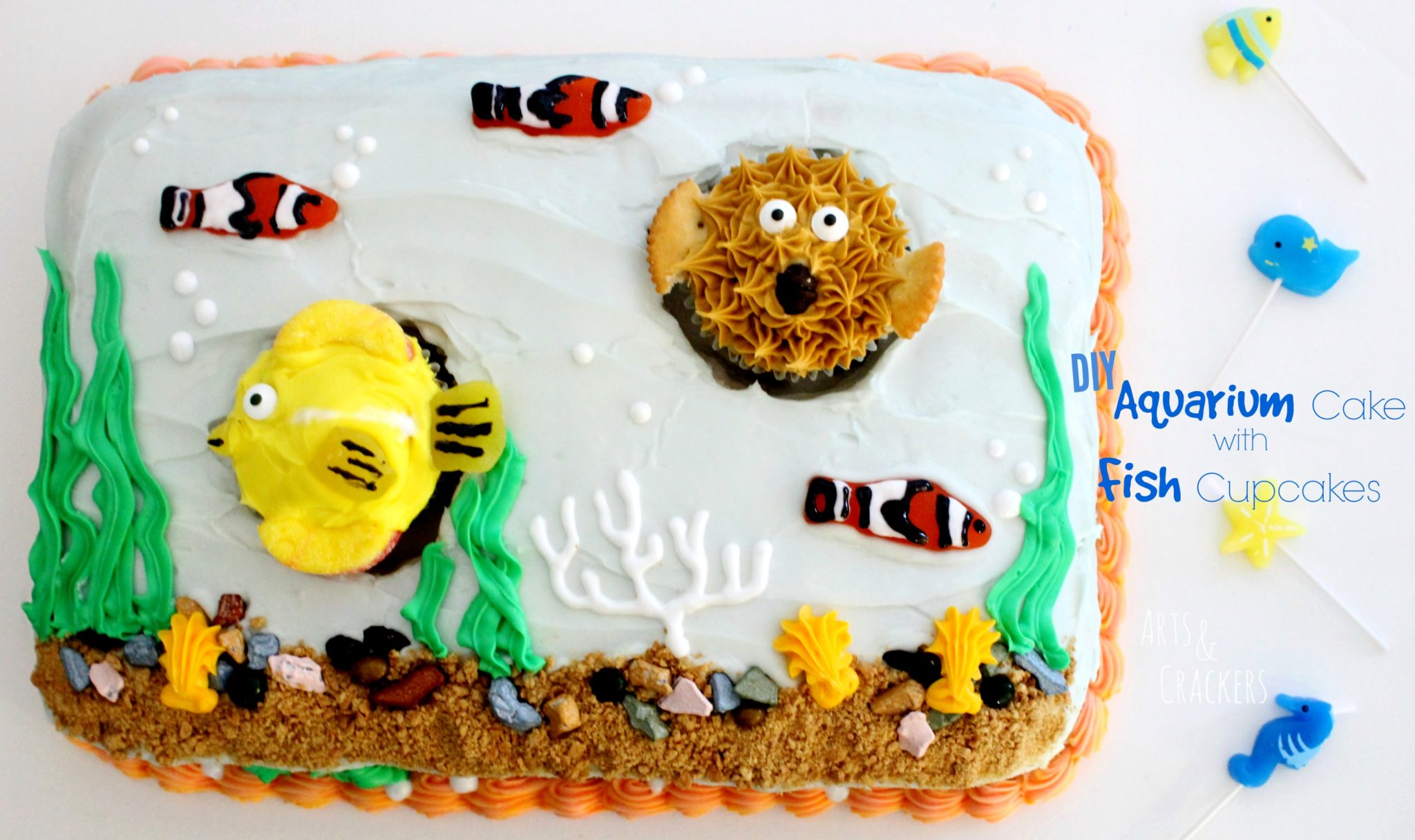 Fish Tank Cake Tutorial