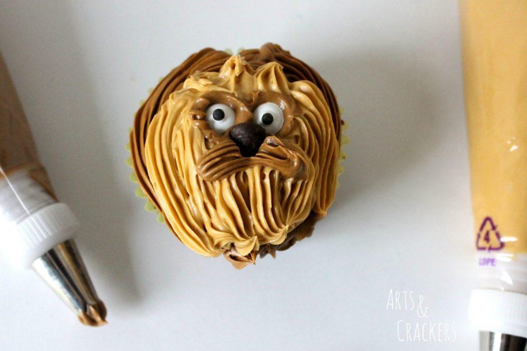 Chewbacca Cupcakes Step 7