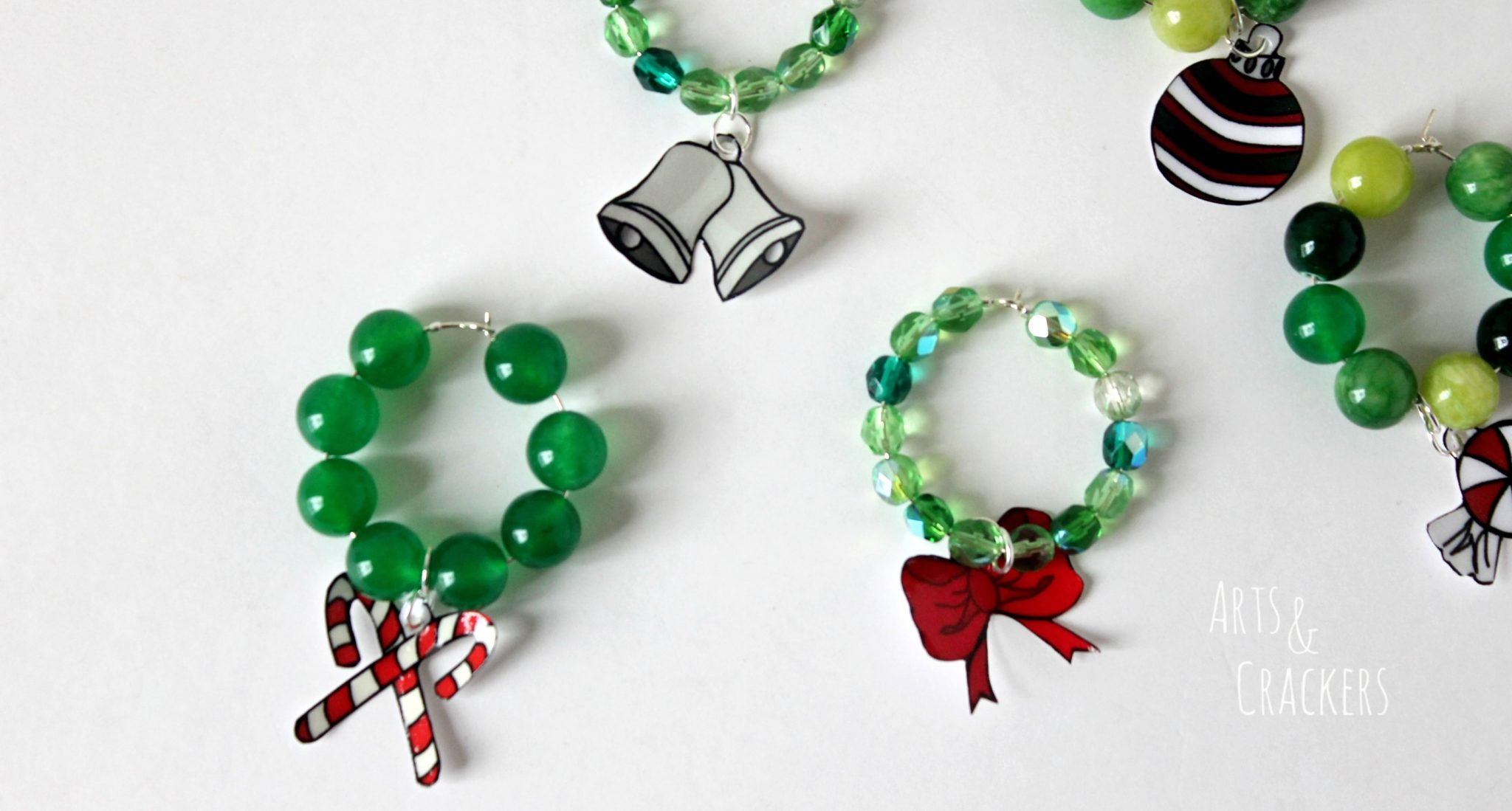 Christmas Wreath Drink Charm