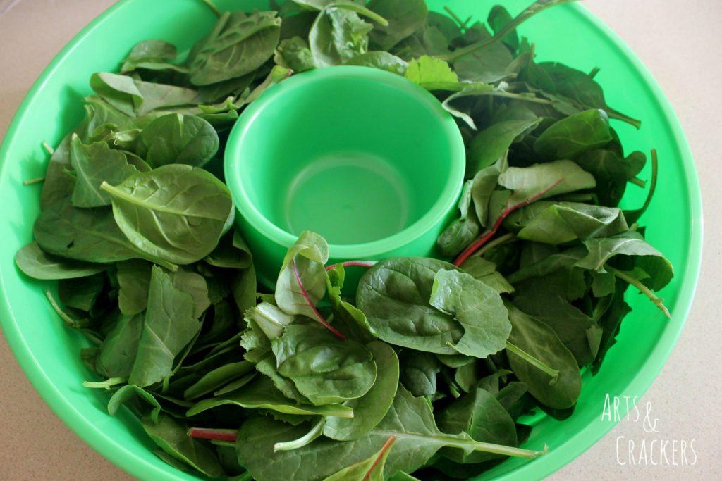Fruit and Nut Salad Wreath Step 1