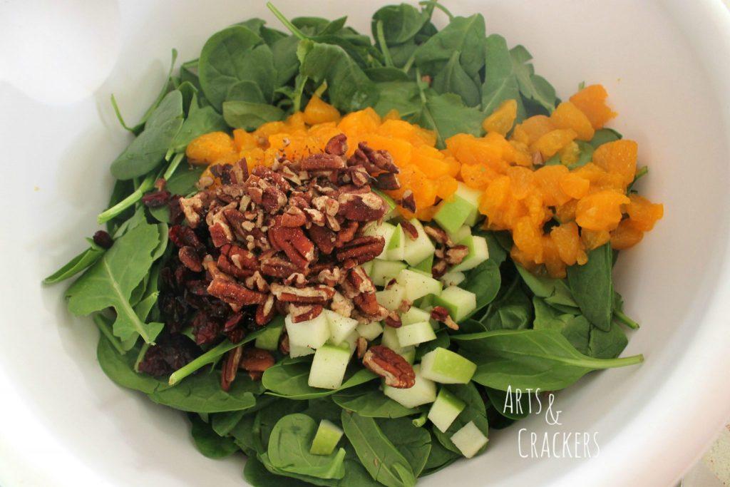 Fruit and Nut Salad Wreath Step 5