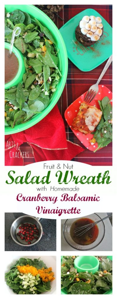 his Fruit and Nut Salad with a sweet Cranberry Balsamic Vinaigrette recipe will make a great appetizer and holiday meal idea. It pairs nicely with STOUFFER'S Lasagna for a red and green Christmas tablescape. Plus, see how to serve it in a festive DIY wreath display!
