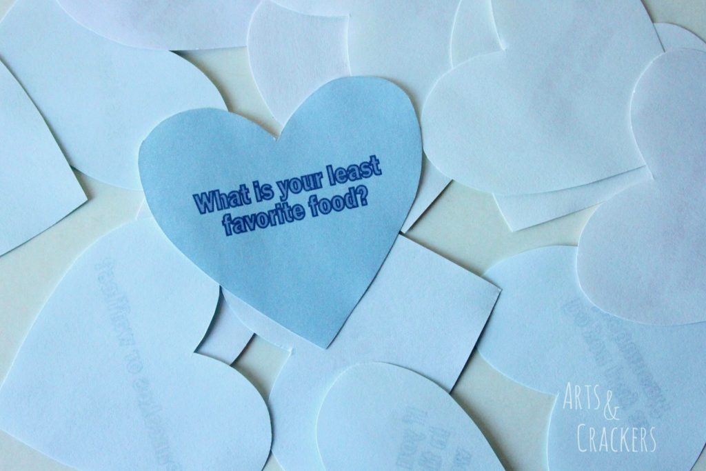 Conversation Starter Hearts Classroom Game