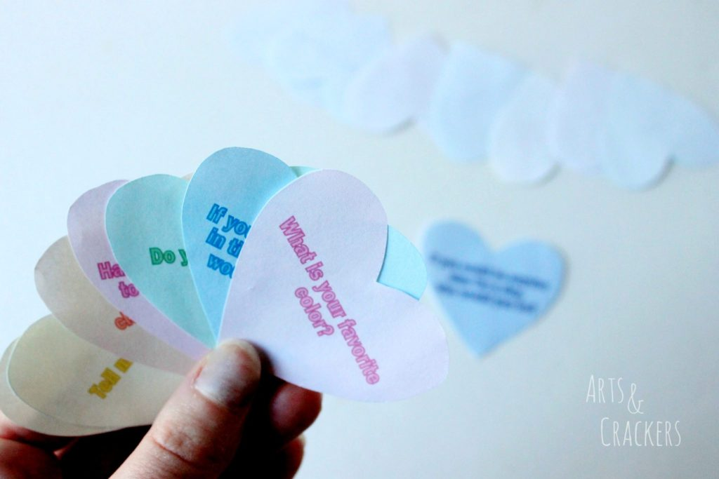 Conversation Starter Hearts Game