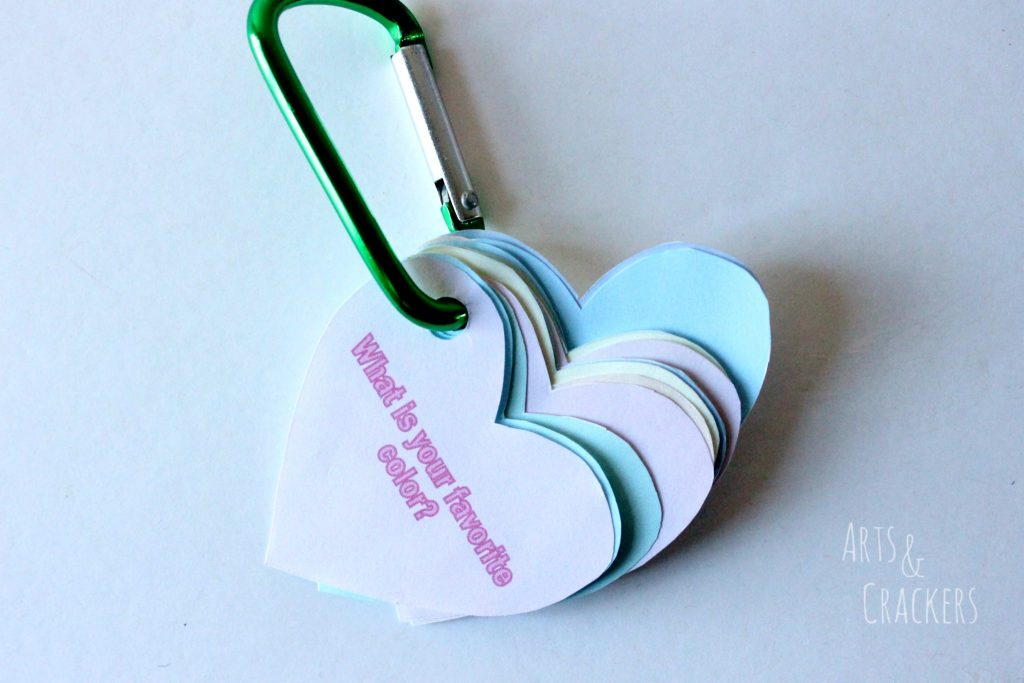 Conversation Starter Hearts Keychain