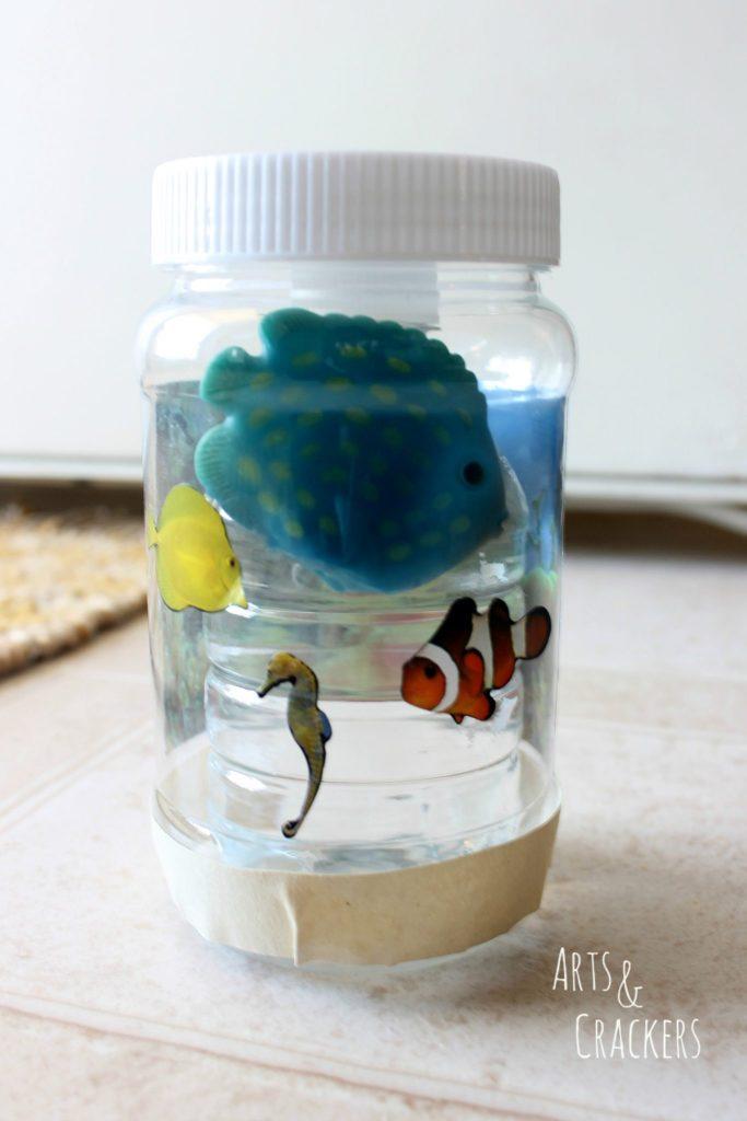 Ocean Party Aquarium Mason Jar Craft