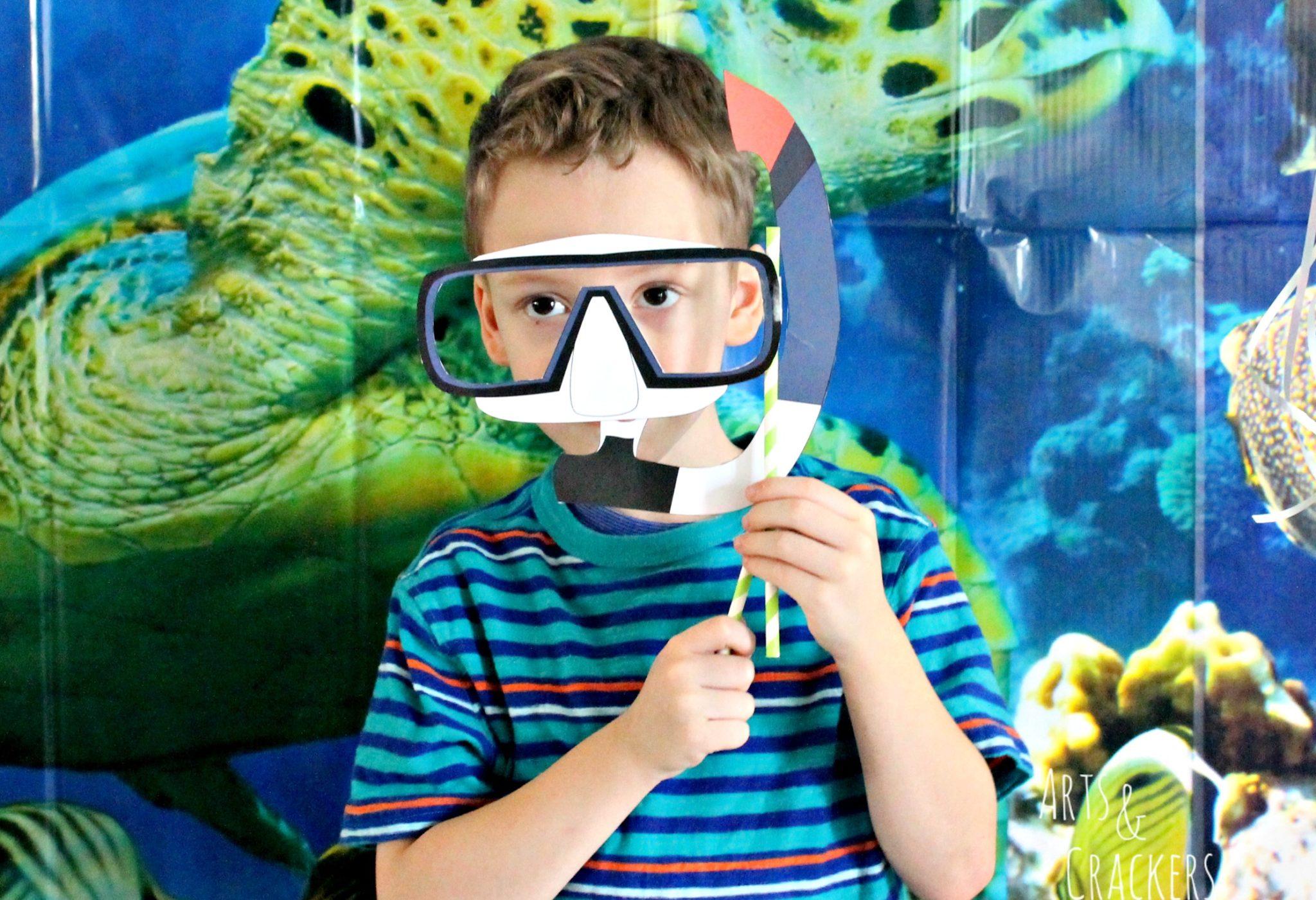 Ocean Party Scuba Mask Printable