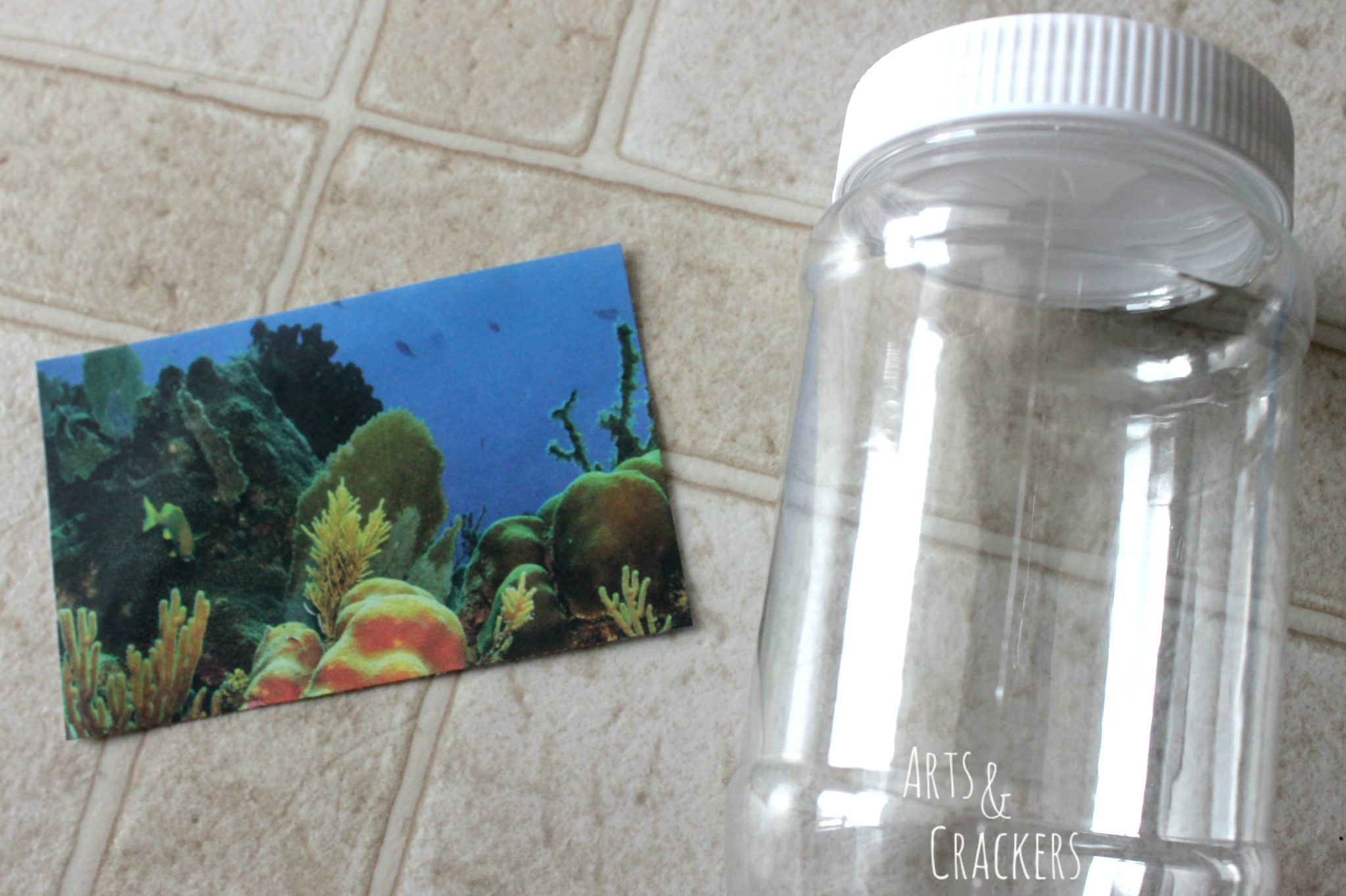 Ocean Themed Party Aquarium Jars Step 1
