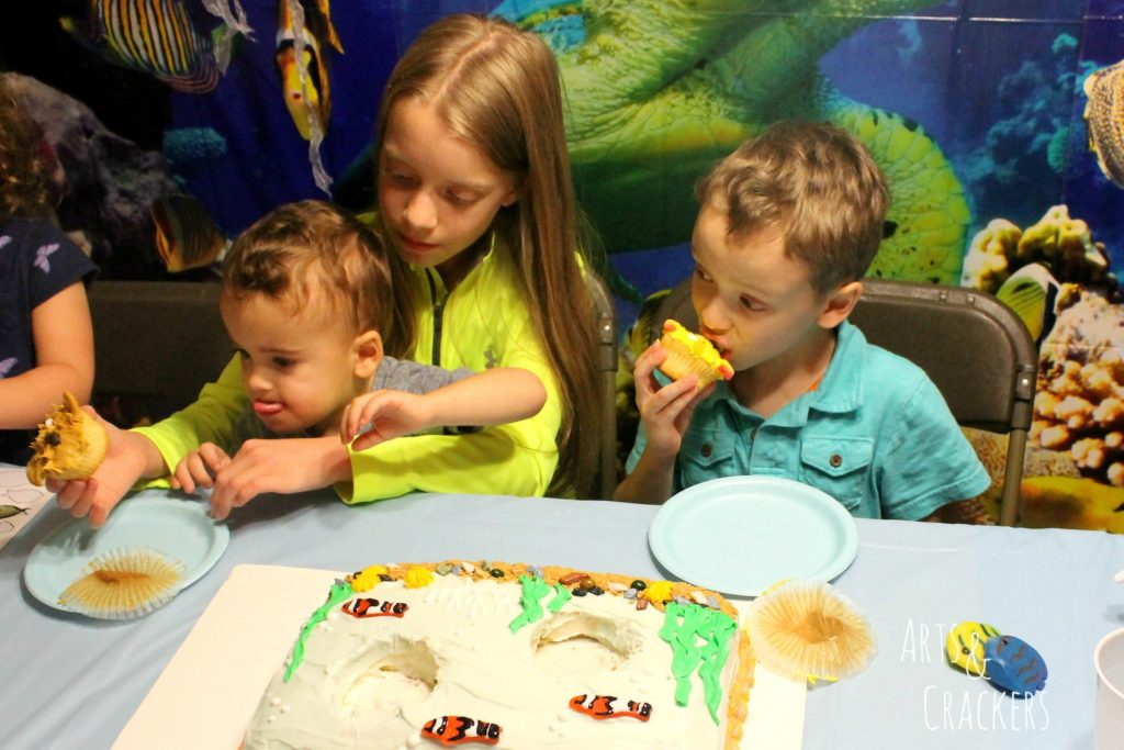 Ocean Themed Party Cake Cutting