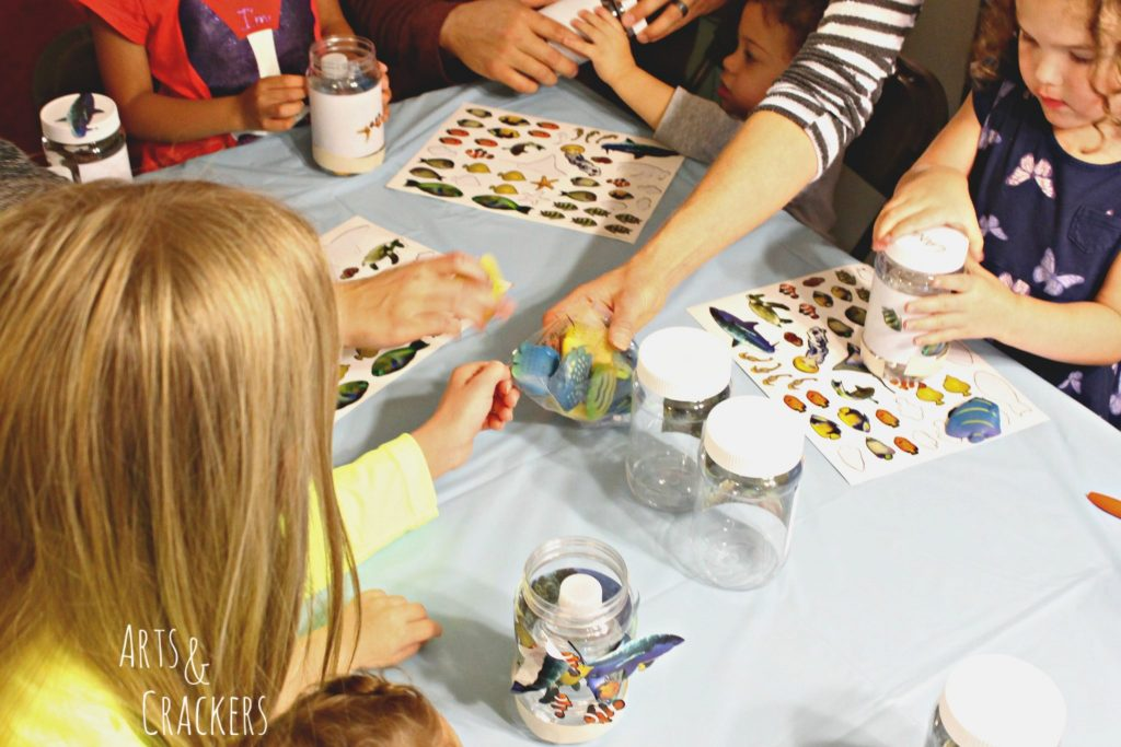 Ocean Themed Party Craft Time Fish Toys