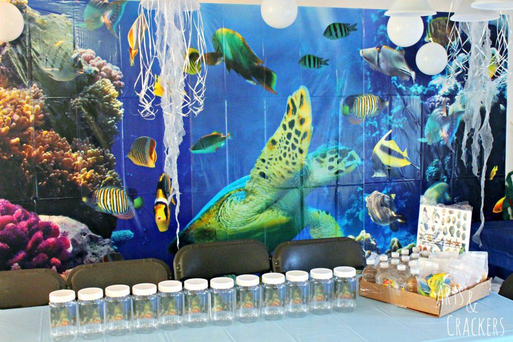 Ocean themed birthday party theme for Sea themed decorating ideas