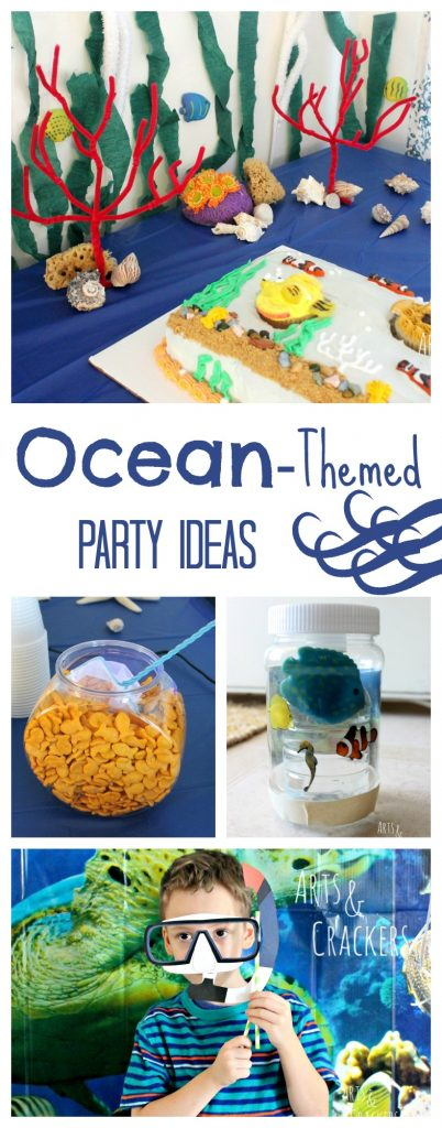 Make a splash with these fun ocean-themed party ideas! Your party guests will feel like they're under the sea!