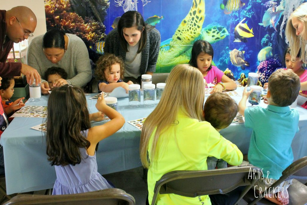 Ocean Themed Party Kids Crafting