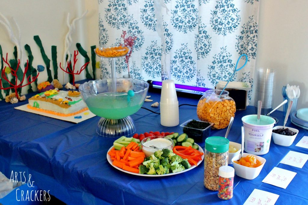 Ocean Themed Party Snacks and Decor