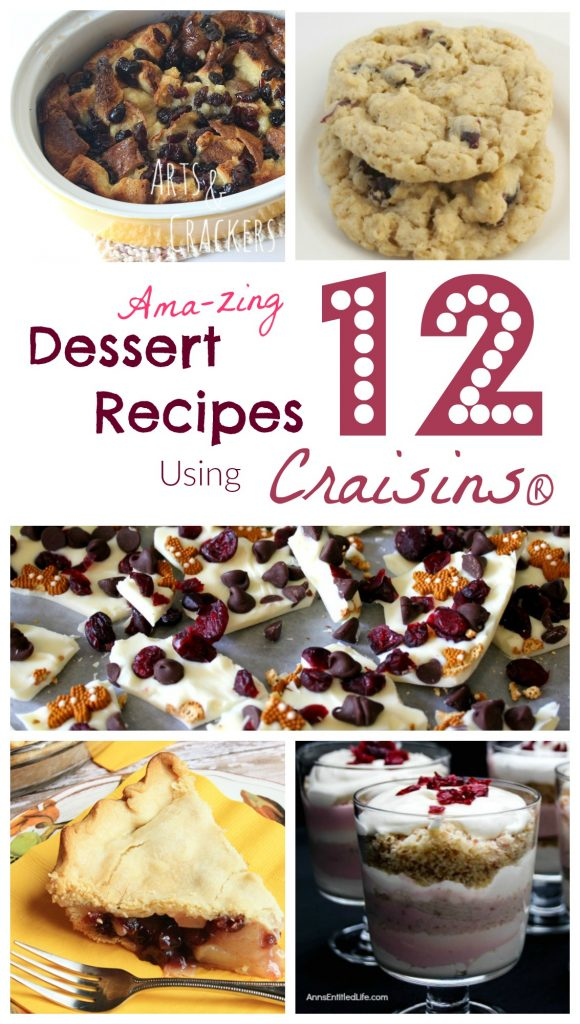 Boost nutrition by adding dried cranberries to your desserts. Here are some great Craisins dessert recipes to get you started.