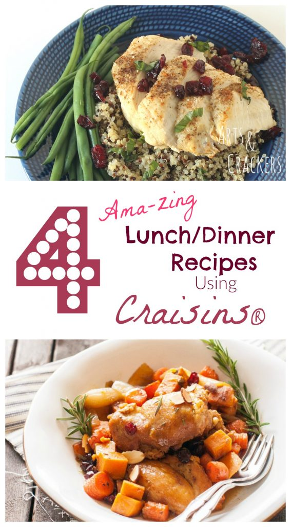 Add some zing to your lunch and dinner with these delicious Craisins entree recipes.