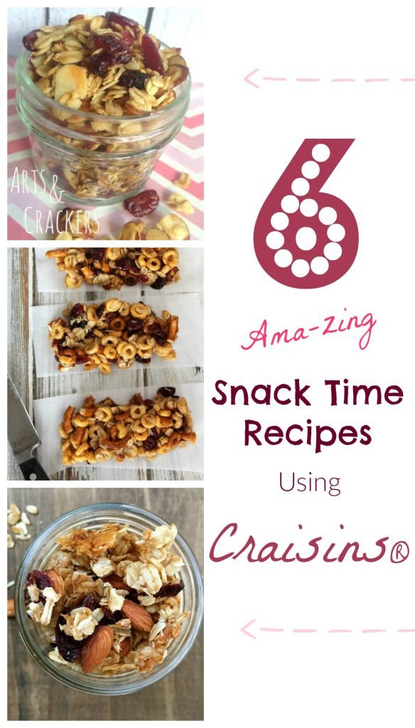 Satisfy your snack cravings with these delicious Craisins snack recipes.