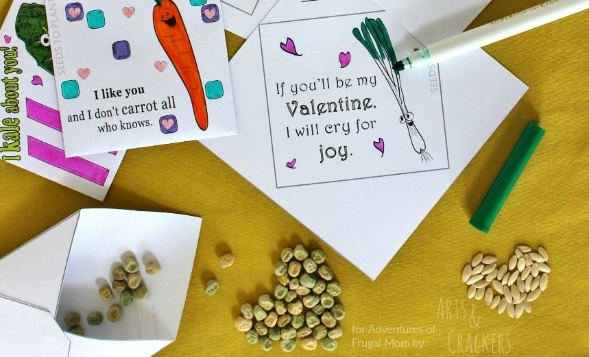 Seed Packet Valentines Print and Fold Envelopes Cropped