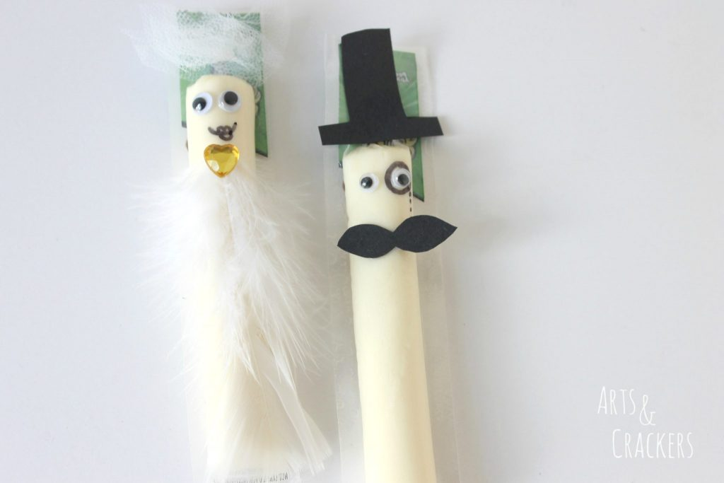 String Cheese Bride and Groom