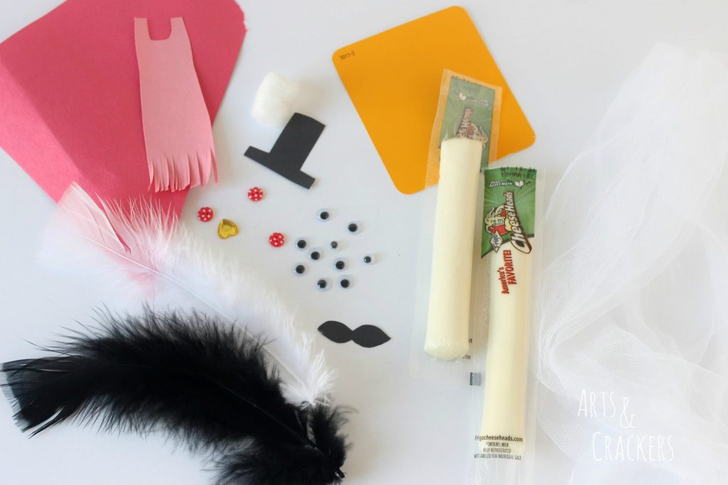 String Cheese Dress Up Supplies