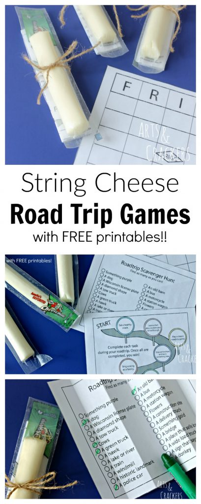 Keep busy on road trips with these free printable string cheese road trip games. Your children will love these road trip activities. ad