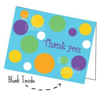 Printable Polka Dot Thank You Cards