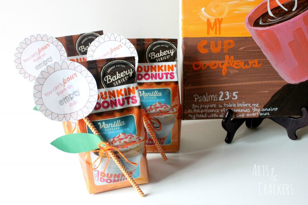 Coffee and Canvas Party Favors