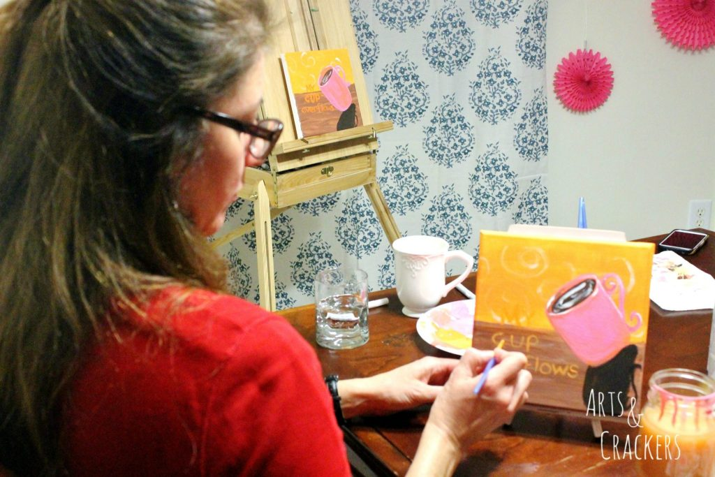 Coffee and Canvas Party Guest Painting 2